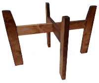 Wooden Stand for Shopping Baskets - DARK STAIN (large)