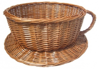 Wicker Cup and Saucer - 40cmx18cm - LARGE