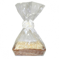 Complete Gift Basket Kit - (36x23x8cm) STEAMED WICKER TRAY / CREAM ACCESSORIES
