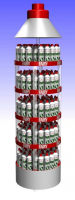 Full Round Display Racks For Service Stations