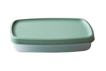 Single Compartment Dish with Mint Green Lid