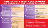 Zoom Fire Safety Risk Assessment Level 2