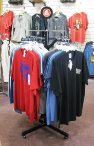 Single Stem Clothing Display Stands