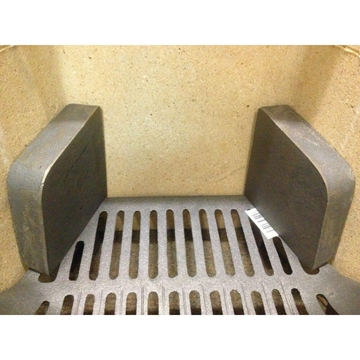 """Cast Iron Fire Brick Side Cheeks for 16"""" & 18"""" Coal Solid Fuel Grate Metal"""