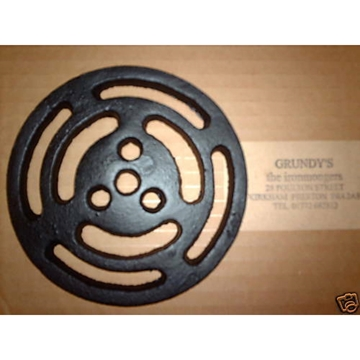 """4"""" ROUND Cast Iron Gully Grid Driveway Drain Cover Metal Wrought Gutter"""