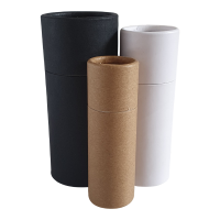 Lined Push-up Base Cardboard Tubes in Black, White and Brown Kraft