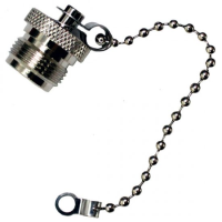 N Type Female Dust Cap With Chain to Fit Male Connector