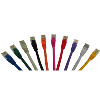PATCH LEAD CAT5E UTP YELLOW 2M PACK OF 10