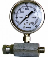 QTech Pressure Gauge Complete With Fittings (6000 psi)