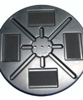 Supporting plate with Velcro