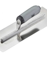 Ragni Feather Edge (Preworn) Stainless Steel Finishing Trowel with a standard lift soft grip handle