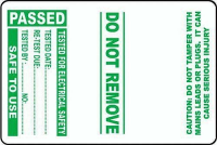 100 PAT Test Cable Wrap Labels – Passed 75x50mm