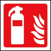 100 S/A labels 100x100mm fire extinguisher