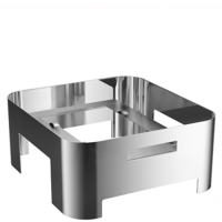 WMF Hot & Fresh Manhattan Stand for 2/3 GN Chafing Dish 370mm (w) x 400mm (d) x 170mm (h) Silver (Each)