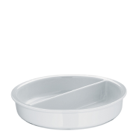 WMF Hot & Fresh Divided Porcelain Insert for Round Chafing Dish 335mm (dia) x 70mm (h) White (Each)