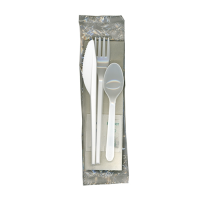 6 in 1 Cutlery Pack White  (1 x 250)