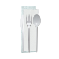 4 in 1 Cutlery Pack White  (1 x 250)