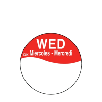 Write On Label Wednesday 2.3cm Red  (1 x 1000)