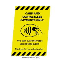 """""""Card & Contactless Only"""" Counter Top Display A4 (Each)"""