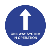 """""""One Way System In Operation"""" Anti-Slip Floor Sign 40cm (Each)"""