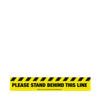 """""""Please Stand Behind This Line"""" Anti-Slip Floor Sign 60 x 10cm (Each)"""