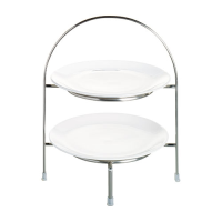 2 Tier Plate Stand 21cm Chrome Plated (Each)