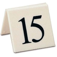 1-10 Table Numbers Black on white (1 x 10)
