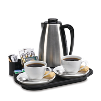 Northmace Valette Black Welcome Tray (0.9Ltr Kettle) 34x32x25cm (Each)