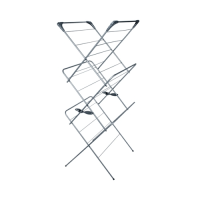 3 Tier  Indoor Clothes Airer 63.4 x 139.2 x 55.8cm Grey (Each)