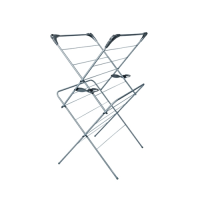 2 Tier  Indoor Clothes Airer 63.2 x 101.3 x 54.3cm Grey (Each)