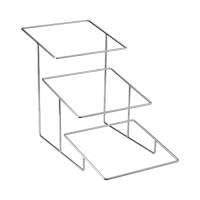 3 Tier  Chrome Plated Angled Stand 430x335x395mm Silver (Each)