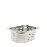 Stainless Steel  Gastronorm Perforated (65mm) 1/1 Silver (Each)
