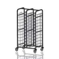 2 Column Clearing Trolley no Sides 2 x 12 Tiers Stainless Steel (Each)