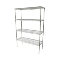 4 Tier Chrome Wire Shelving 900mm (W) (Each)