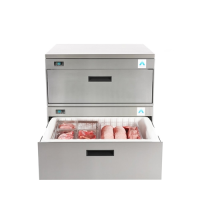 Adande Soild Top Rear Engine 2 Drawer VCR2CW Stainless Steel (Each)