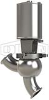 SSV Series Single Seat Valve, Shut-Off Y Body, Clamp, Spring Return Actuator (Air-To-Lower)