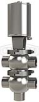 SSV Series Single Seat Valve, Divert TT Body, Weld, Double Acting Actuator (Air-To-Air)