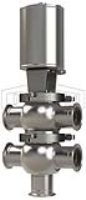 SSV Series Single Seat Valve, Divert TT Body, Clamp, Double Acting Actuator (Air-To-Air)