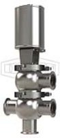 SSV Series Single Seat Valve, Divert LT Body, Clamp, Double Acting Actuator (Air-To-Air)