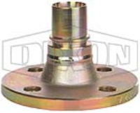 Smooth Tail Fixed Flanged Hose Spigot x Tail