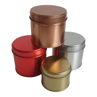 Round Welded Side Seam Tin in Red Gold, Silver or Rose Gold