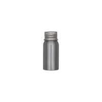 Silver Aluminium Screw Lid Bottles with Optional Pump or Spray Caps