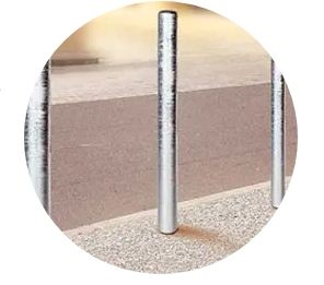 Static Steel Bollards For Industrial Parks