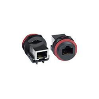 Case Side Waterproof RJ45 Connector with Jack