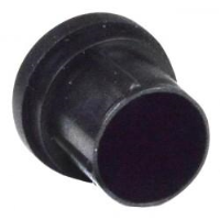 XLR Male Connector Covers, Black, Pack of 100