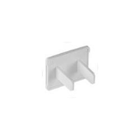 2-Prong NEMA 1-15R Power Outlet Cover, White, 10-Pack