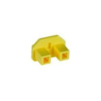 3-Prong IEC C14 Power Connector Cover, Yellow, 10-Pack