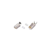 6-PLG-SOLID-SH-CLP - CAT6 Solid Shielded RJ45 Male Plug Terminate Network Cord Cable Clip