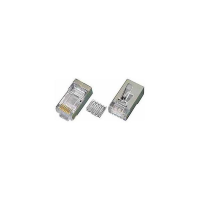 6-PLG-SOLID-SH - CAT6 RJ45 Male Solid Plug Conductor Terminate Shielded Cable Insert