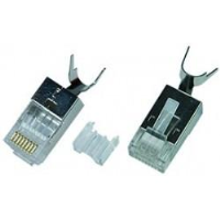 6A-PLG-SH-CLP - CAT6a Stranded Solid Shielded RJ45 Male Plug Terminate Conductor Cable Clip